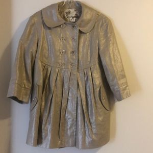 Kensie Gold linen babydoll jacket Sz Medium